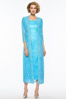 Čaj délka A-Čára Dva kusy Iluze Podzim Krátké rukávy Matky šaty