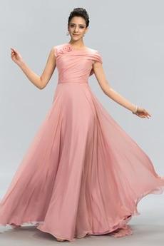 Bez rukávů Přirozeného pasu Přikrýt Klíčová dírka Promové šaty