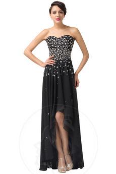 Přírodní pas Zašněrovat boty Asymetrické Elegantní Večerní šaty