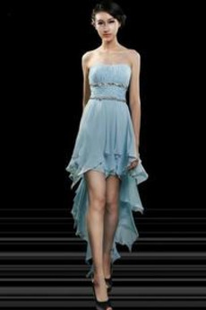 Asymetrické Sexy Zip nahoru Střední Míč Rouška Koktejlové šaty