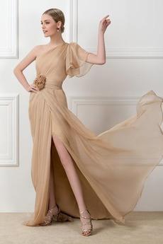 Svatba Přirozeného pasu Délka podlahy Střední záda Společenské šaty