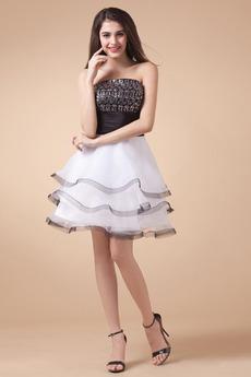 Přírodní pas fantazie Bílá Střední záda Drobounký Večerní šaty