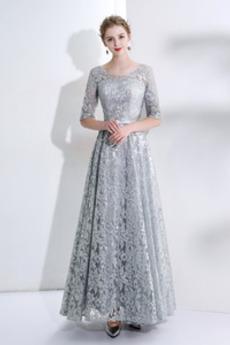 Tři čtvrtiny rukávy Šperk Léto Flitry Svatba Společenské šaty
