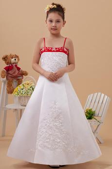 Bez rukávů Tlačítka Tenká Přirozeného pasu Satén Květinové šaty