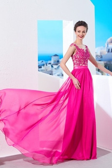 Krajka Dlouhá Zip Bateau Lištování Elegantní A-Čára Večerní šaty