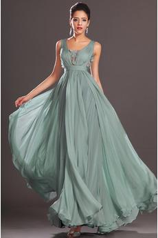 Říše pasu Hluboký výstřih do V Světle modrá Léto Večerní šaty