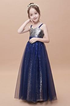 Přirozeného pasu Formální Náměstí Délka podlahy Květinové dívky šaty