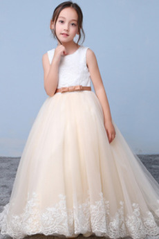 Formální Bez rukávů Obřad Nášivky Krajkou Overlay Květinové šaty