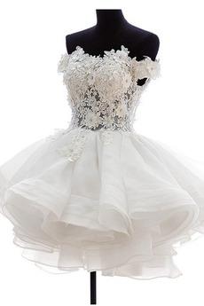 Krátký Okouzlující Úplně zpátky Plesové šaty Tlačítka Svatební šaty