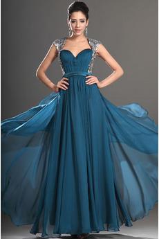 Klíčová dírka zpět Krátký rukáv Hvězdné Skládaný živůtek Promové šaty