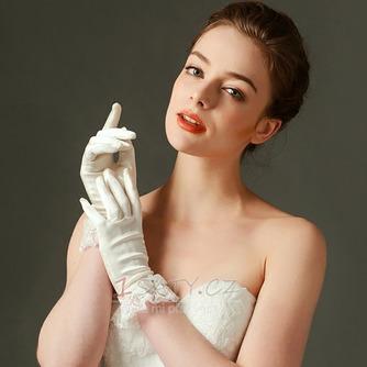 Svatební rukavice Plná prstová krajka Ivory Short Fashion Spring - Strana 1