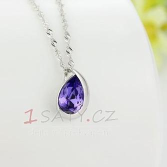 Velkoobchod stříbrné srdce ve tvaru módní Crystal ženy náhrdelník - Strana 3