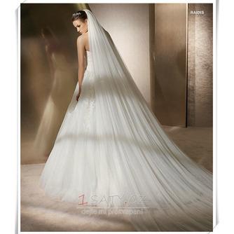 Nevěsta svatební šaty závoj měkké příze 3 metry dlouhé a dvě vrstvy měkký závoj - Strana 2