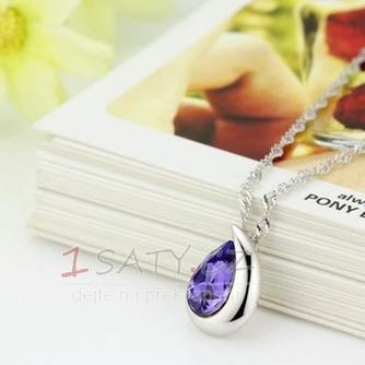 Velkoobchod stříbrné srdce ve tvaru módní Crystal ženy náhrdelník - Strana 2