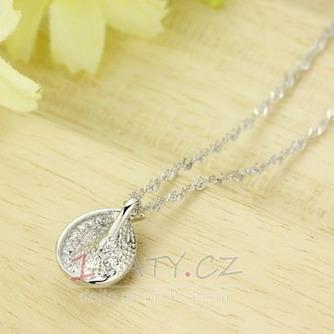 Velkoobchod stříbrné srdce ve tvaru módní Crystal ženy náhrdelník - Strana 4