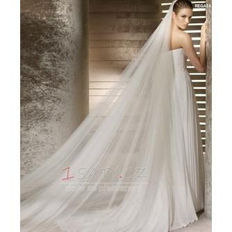 Nevěsta svatební šaty závoj měkké příze 3 metry dlouhé a dvě vrstvy měkký závoj - Strana 1