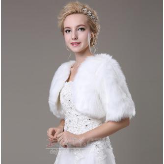 Svatební šátek Glamour s krátkým rukávem Shore Sleeve Loose Fur - Strana 2