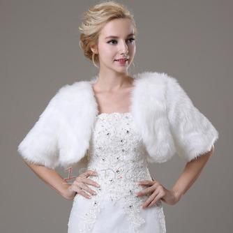 Svatební šátek Glamour s krátkým rukávem Shore Sleeve Loose Fur - Strana 1