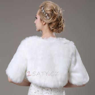 Svatební šátek Glamour s krátkým rukávem Shore Sleeve Loose Fur - Strana 3