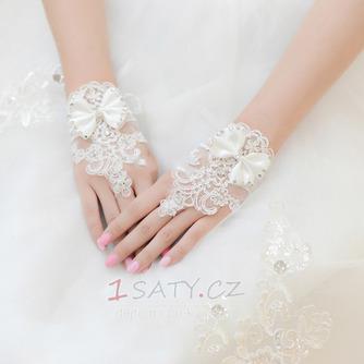Svatební rukavice Krátké bez ramínek dekorace Čipka Fabric Mitten - Strana 1