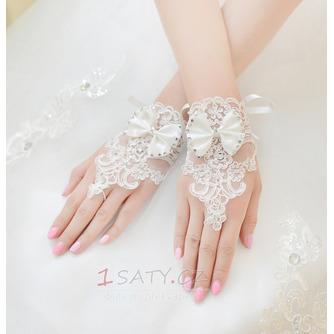 Svatební rukavice Krátké bez ramínek dekorace Čipka Fabric Mitten - Strana 3
