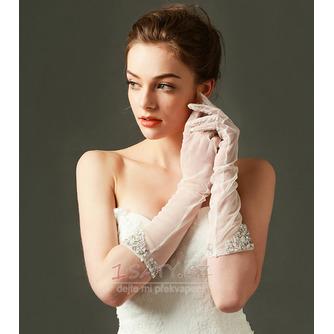 Svatební rukavice Tylový odstín Požadovaný Pearl Podzim Plný prst - Strana 3