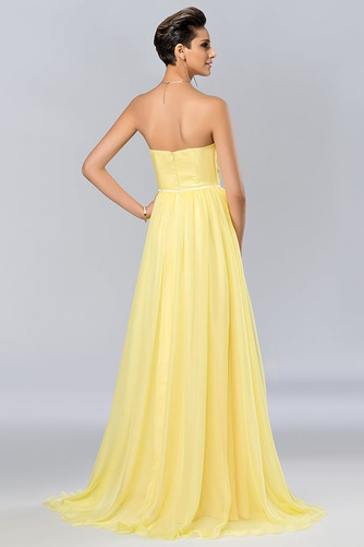 Bez ramínek Elegantní Šifón Dlouho A-Čára Střední Promové šaty - Strana 3
