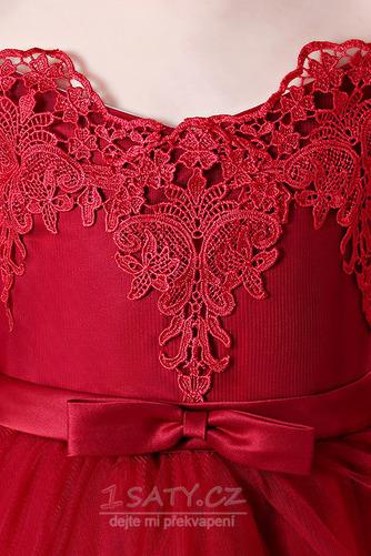 Zip nahoru Asymetrické Přírodní pas T-shirt rukáv Květinové dívky šaty - Strana 5