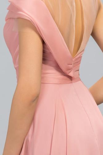 Bez rukávů Přirozeného pasu Přikrýt Klíčová dírka Promové šaty - Strana 4
