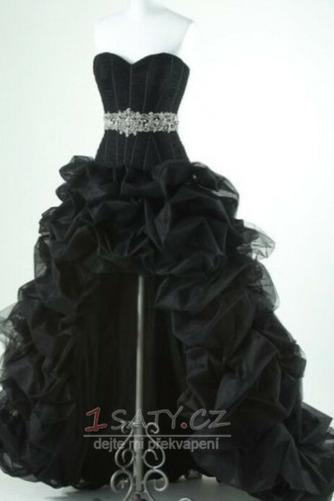 Bez ramínek Korálkový pás Trojúhelník záhyb Střední záda Promové šaty - Strana 5
