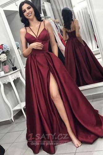 b76ed6f00111 Dlouhý Sexy Bez rukávů Podzim S hlubokým výstřihem Promové šaty - Strana 1