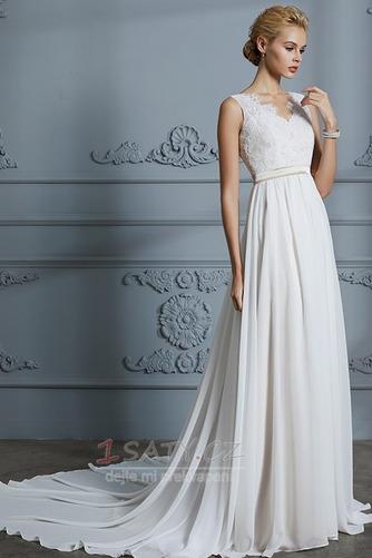 Jaro Pláž Elegantní Dlouho Šerpa S hlubokým výstřihem Svatební šaty - Strana 1