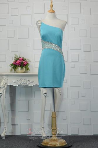 Sexy Přirozeného pasu Jedno rameno Přikrýt Spandex Koktejlové šaty - Strana 10