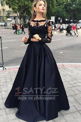 Elegantní Svatba Dlouhý rukáv Délka podlahy Přírodní pas Promové šaty - Strana 1
