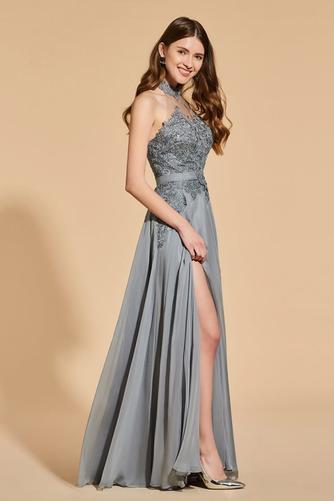 Přikrýt Boční štěrbinou Míč A-Čára Délka patra Vysoká krk Promové šaty - Strana 3