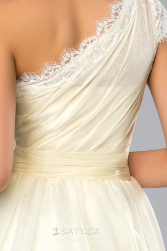 Krátký Přírodní pas Jedno rameno Neformální Střední Koktejlové šaty - Strana 5