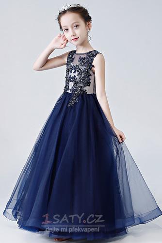 Zip Přirozeného pasu drahokamy živůtek Lištování Květ dívka šaty - Strana 3
