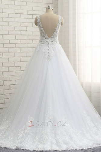 Formální Korálkový pás Střední záda Dlouhý Přírodní pas Svatební šaty - Strana 5