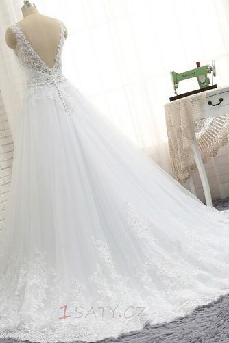 Formální Korálkový pás Střední záda Dlouhý Přírodní pas Svatební šaty - Strana 6