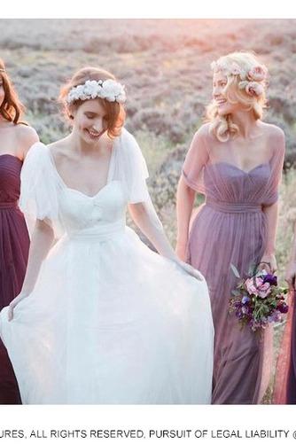 Zimní Skládaný živůtek S hlubokým výstřihem Svatba Družička Šaty - Strana 4