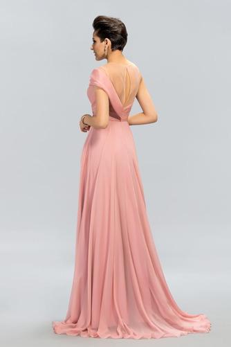 Bez rukávů Přirozeného pasu Přikrýt Klíčová dírka Promové šaty - Strana 2