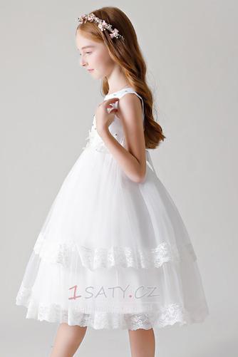 Kolena délka Vícevrstvý drahokamy živůtek A-Čára Květinové šaty - Strana 5