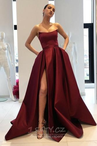Bez ramínek Oslava Bez rukávů Přirozeného pasu Elegantní Promové šaty - Strana 1