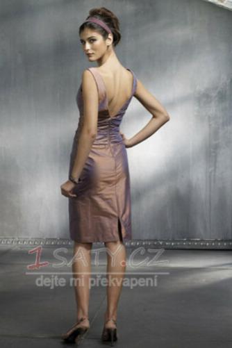 Jednoduchý Kolena délka V-krk Zip nahoru Plášť Koktejlové šaty - Strana 2