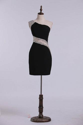 Sexy Přirozeného pasu Jedno rameno Přikrýt Spandex Koktejlové šaty - Strana 7