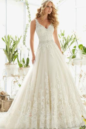 Formální Korálkový pás Střední záda Dlouhý Přírodní pas Svatební šaty - Strana 1