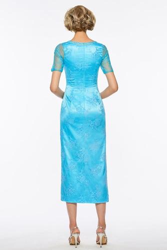 Čaj délka A-Čára Dva kusy Iluze Podzim Krátké rukávy Matky šaty - Strana 5