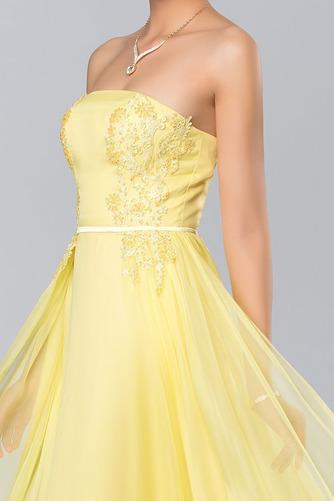 Bez ramínek Elegantní Šifón Dlouho A-Čára Střední Promové šaty - Strana 4