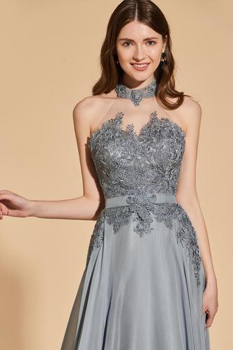 Přikrýt Boční štěrbinou Míč A-Čára Délka patra Vysoká krk Promové šaty - Strana 5