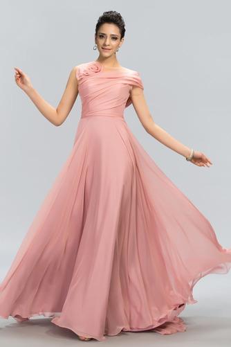Bez rukávů Přirozeného pasu Přikrýt Klíčová dírka Promové šaty - Strana 1